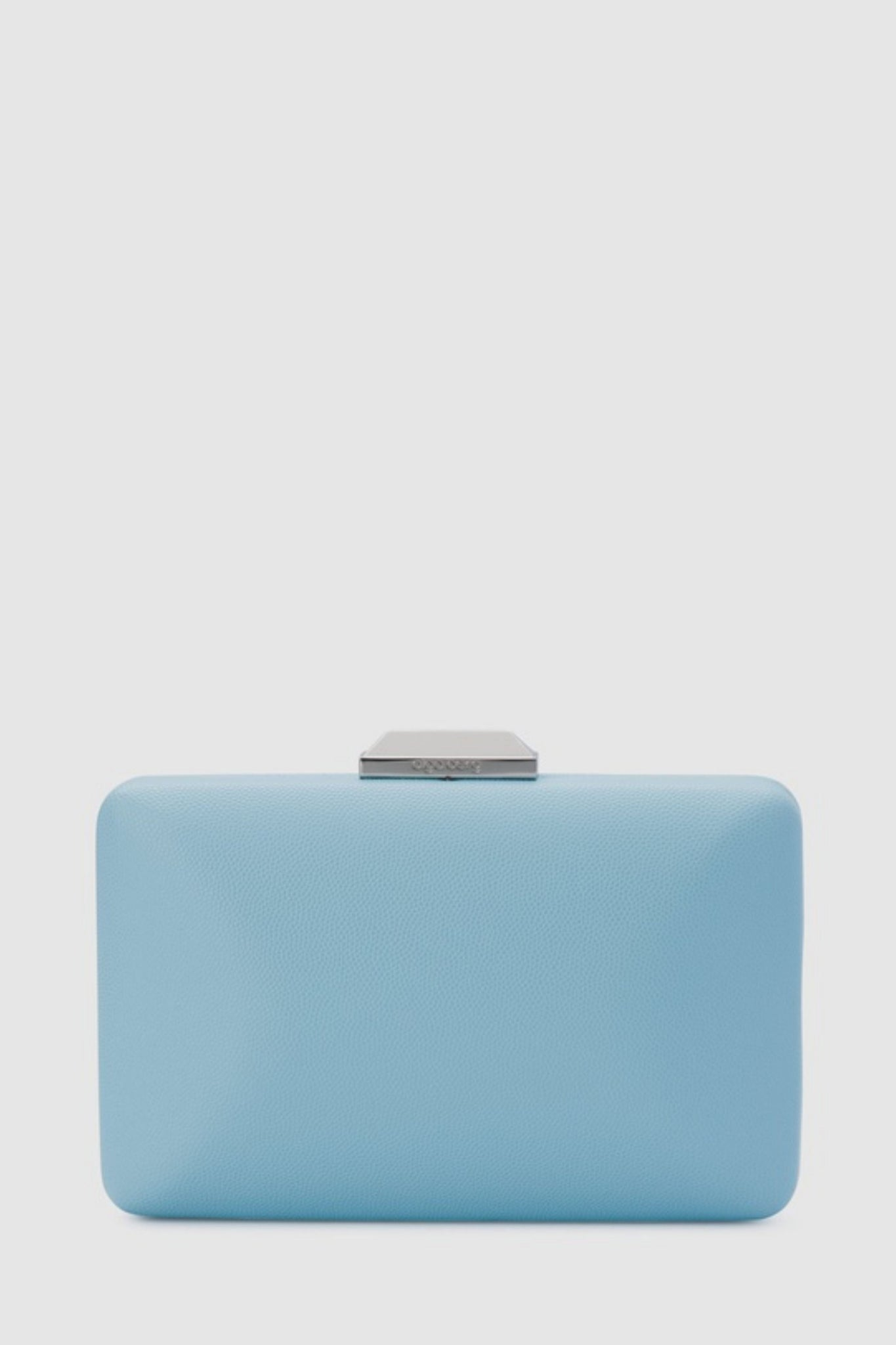 Buy Olga Berg Sonia Pebbled Textured Clutch in Blue. Light Blue Clutches online Australia.