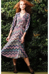 Cecile Jersey Wrap Dress - Zig Zag