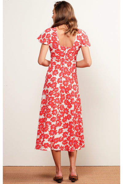 Buy Sacha Drake Port Douglas Midi Dress in Red and White Floral. Christmas Day Summer Dress Australia