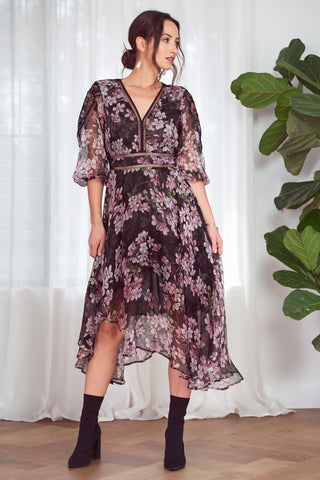 Buy Kamare Collective Dylan Dress in Tinted Petals online now at Smoke and Mirrors Boutique. Shop Kamare Collective with AfterPay and ZipPay. Mother of the Bride or Groom Dress.
