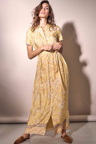 Buy Mos Mosh Jessy Sunny Dress in Yellow. Yellow Maxi Dress with Sleeves and Paisley pattern. online now at Smoke and Mirrors Boutique. Shop Mos Mosh Australian Stockist. Buy Mos Mosh Brisbane with AfterPay and ZipPay.