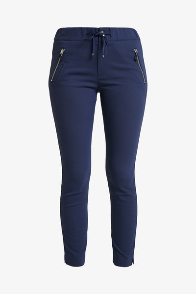 Buy Mos Mosh Levon Logo Pant in Navy. Navy Chino suit pant. Textured Dark Blue Skinny Fit Jogger.