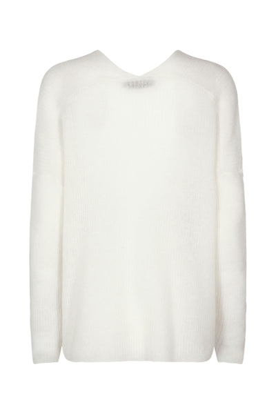 Thora V-Neck Knit - Ecru