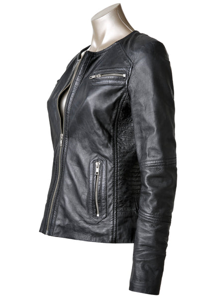New York Leather Jacket - Black
