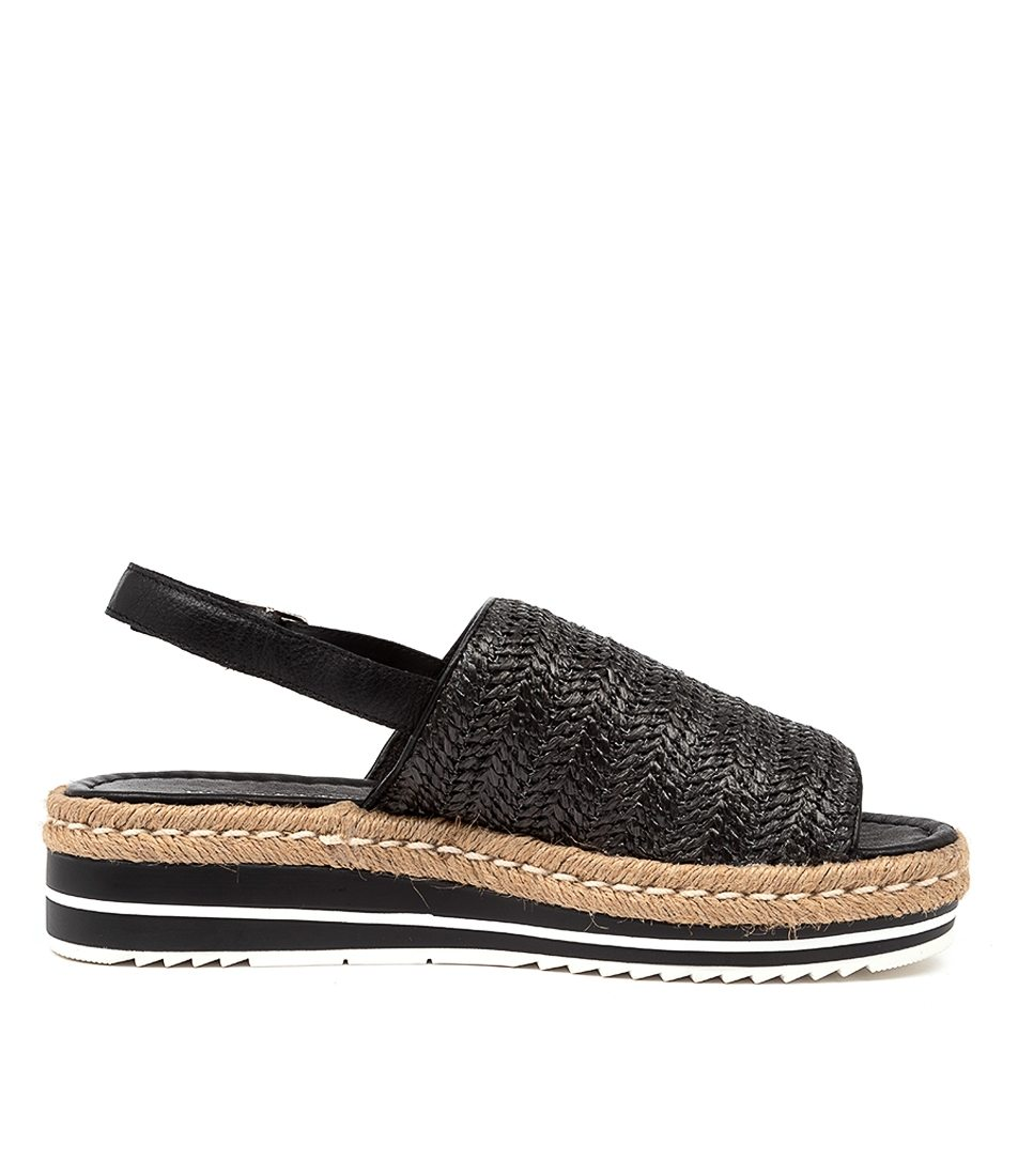 Buy Django and Juliette Adlines Sandal in Black Raffia online now at Smoke and Mirrors Boutique. Django and Juliette stockist Australia. Django and Juliette ZipPay and AfterPay.