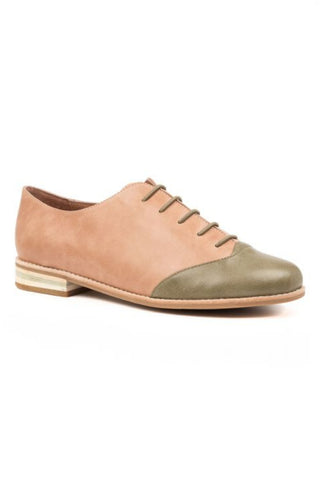Django and Juliette Pink Brogue Slip on Shoe