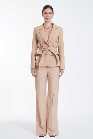 Leda Suit Set - Metallic Camel