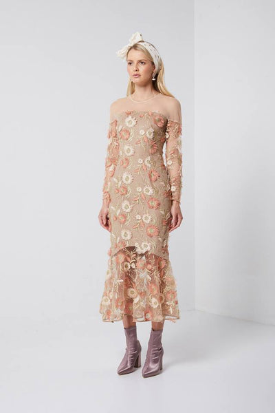 Lanter Dress - Peach