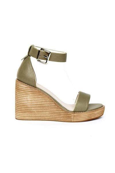 Buy Hael & Jax Fox Wedge in Olive online now at Smoke and Mirrors Boutique. Shop Hael and Jax AfterPay. Hael and Jax ZipPay. Hael and Jax Shoes stockists Online, Brisbane, and Toowoomba.