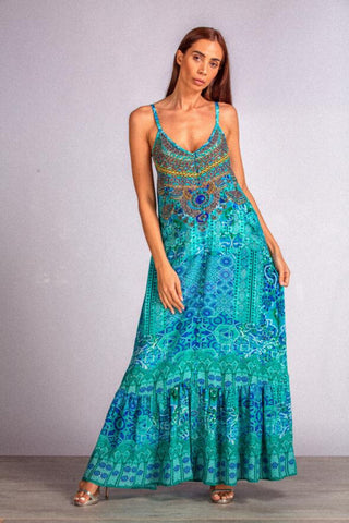 Buy Inoa Frill Strap Maxi Dress in Atlantis online now at Smoke and Mirrors Boutique. Inoa Stockists. Inoa online stockists. Buy Inoa with ZipPay. Buy Inoa with AfterPay. Shop Inoa Silk Kaftans.