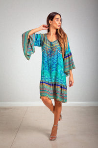 Buy Inoa Gypsy Dress in Atlantis Silk online now at Smoke and Mirrors Boutique. Inoa stockists Australia. Inoa online stockists. Buy Inoa with ZipPay. Buy Inoa with AfterPay.