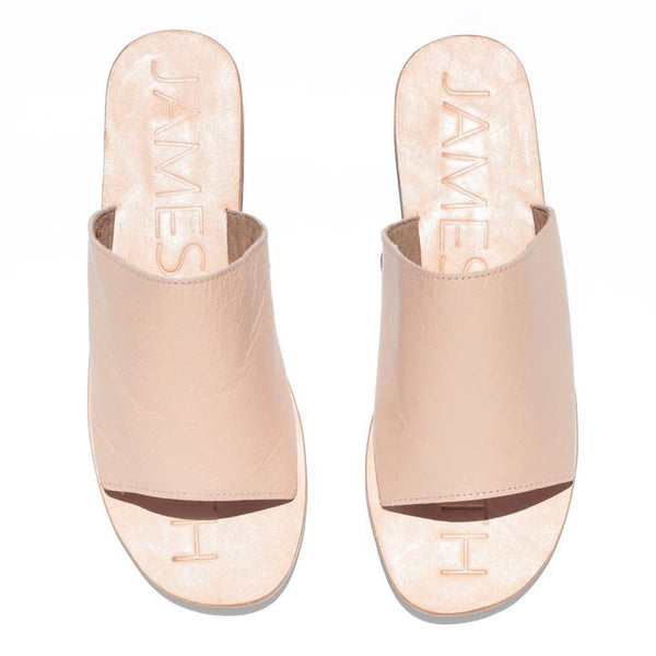 Off Duty Leather Slide - Ballet