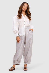 Cove Linen Fisherman Pants - Sepia