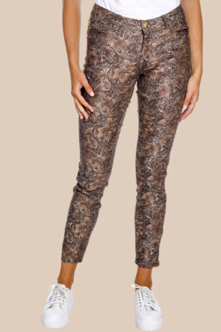 Victoria Jive Pant - Metallic Choco Chip