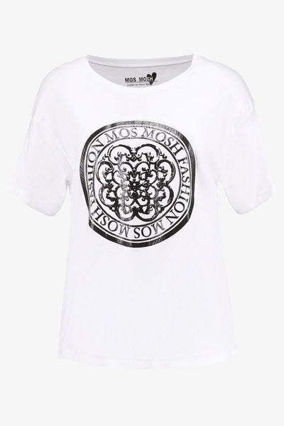 Buy Mosh Mosh Kerry Tee in White online now at Smoke and Mirrors Boutique. Shop Mos Mosh Australian Stockist. Buy Mos Mosh Australia with  ZipPay & AfterPay & Free Shipping.