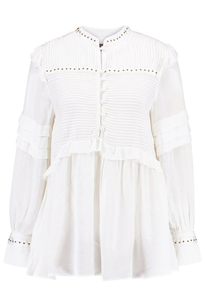 Buy Mosh Mosh Nita Stud Blouse in Off White online now at Smoke and Mirrors Boutique. Shop Mos Mosh Australian Stockist. Buy Mos Mosh Australia with  ZipPay & AfterPay & Free Shipping.