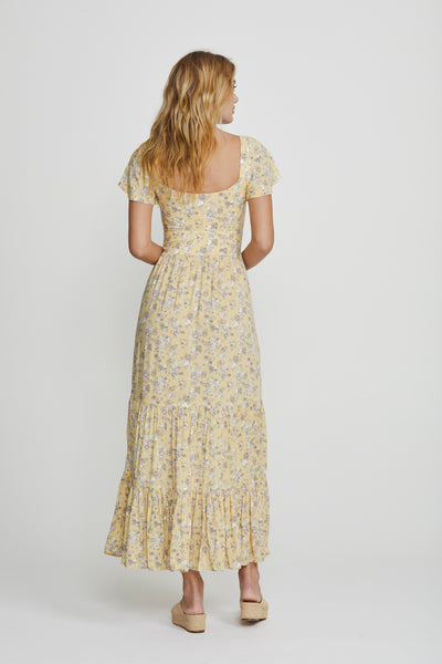 Olsen Bella Maxi Dress Lemon