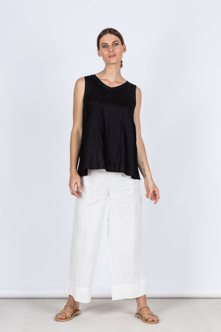 Paris Linen Pant - White