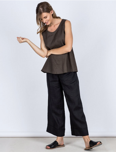 Sorrento Linen Top - Slate SIZES L & XL ONLY