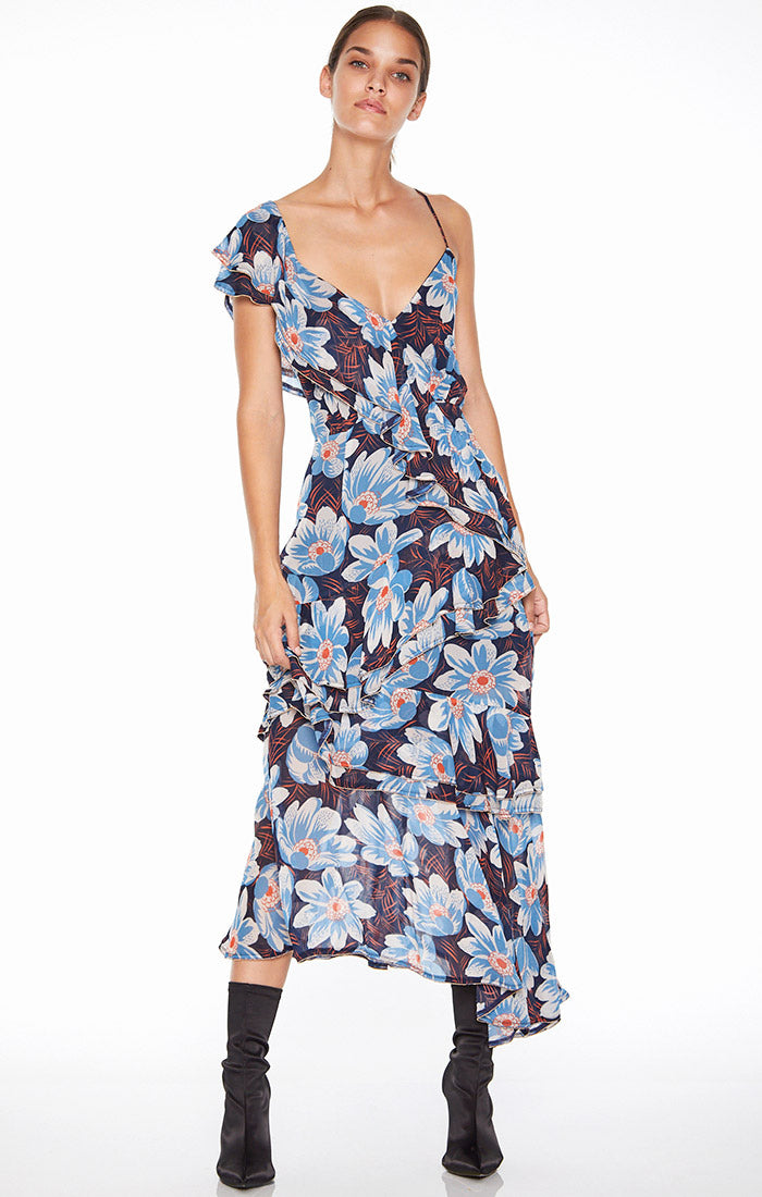 Lush Tropics Midi Dress SMALL ONLY