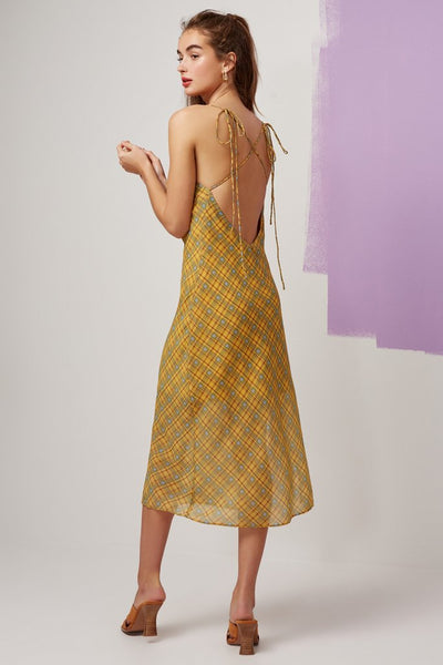 Sorrento Dress - Lemon Check