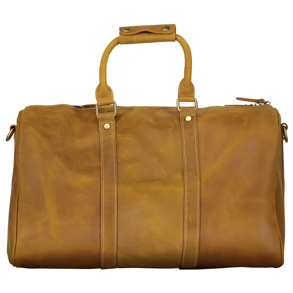 Leather Overnight Duffle - Light Brown
