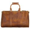 Leather Overnight Duffle - Red Brown