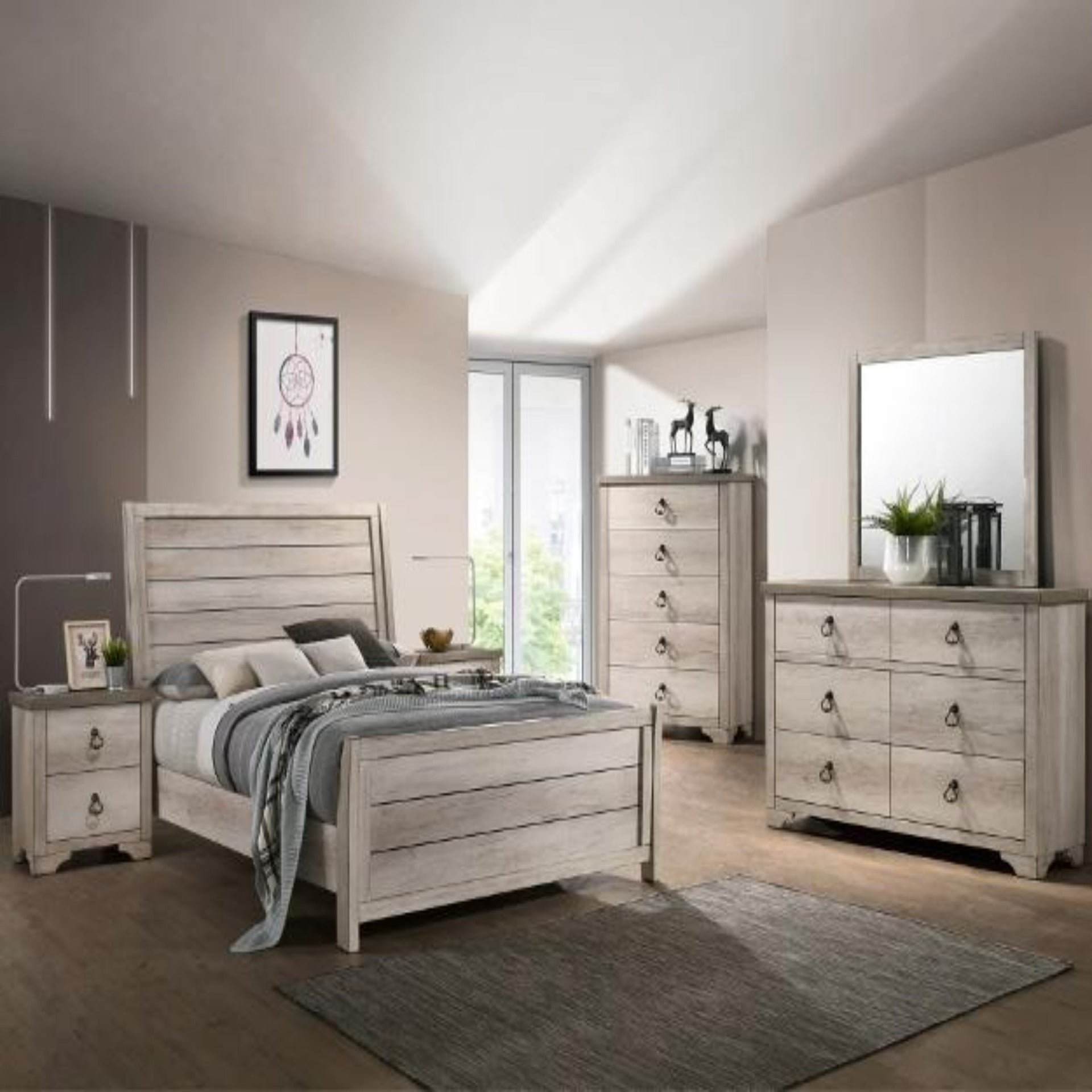 Patterson Sleigh 4 Piece Bedroom Set