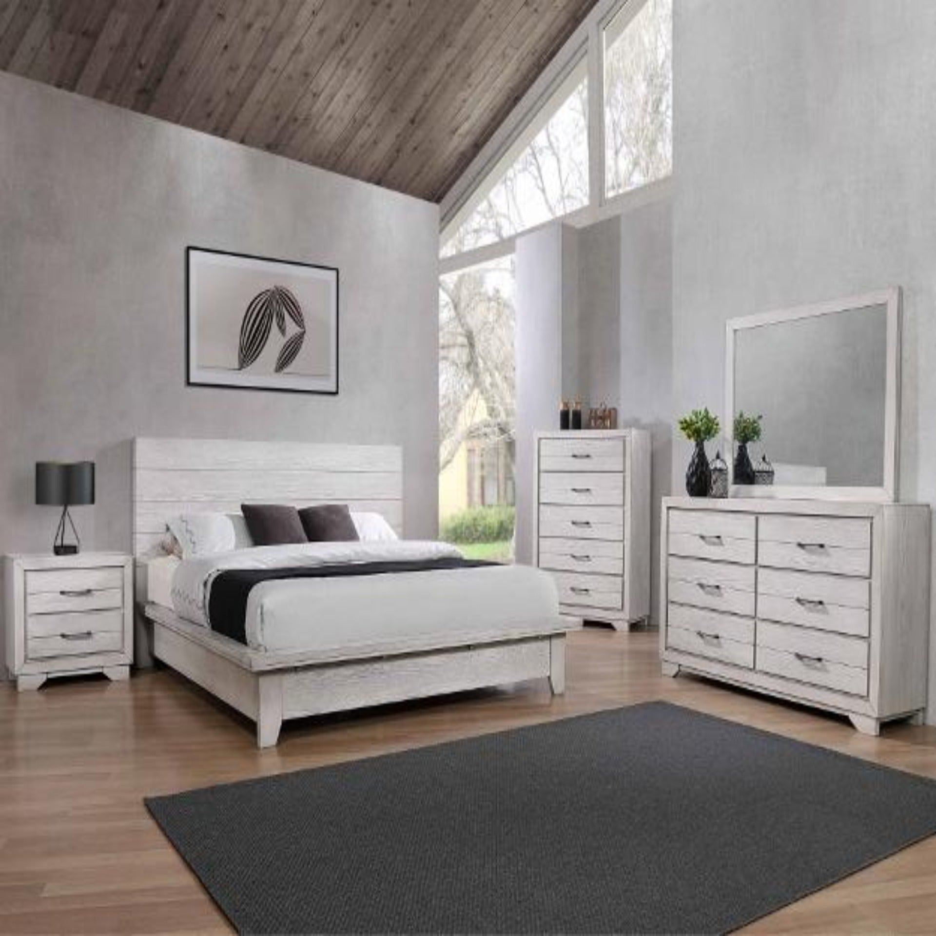 White Sands 4 Piece Bedroom Set