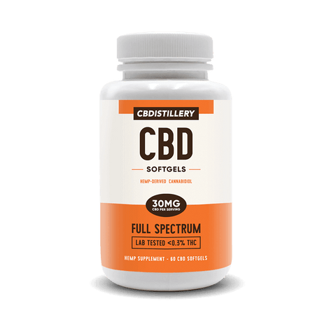 CBDistillery - CBD Softgels - 30mg - 60ct - Full Spectrum - Buy CBD Online