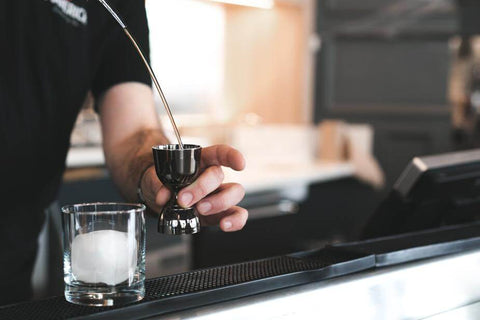 Bartender making a drink
