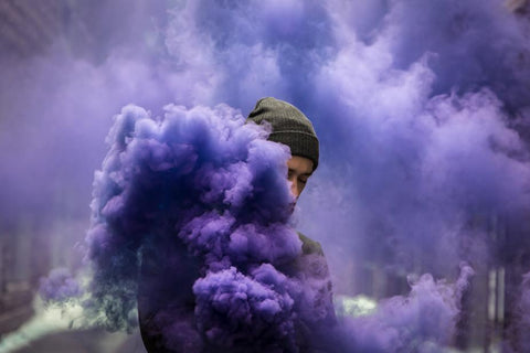 Man in smoke
