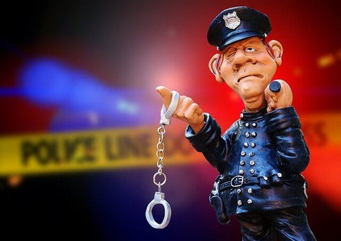 Police Officer made of clay