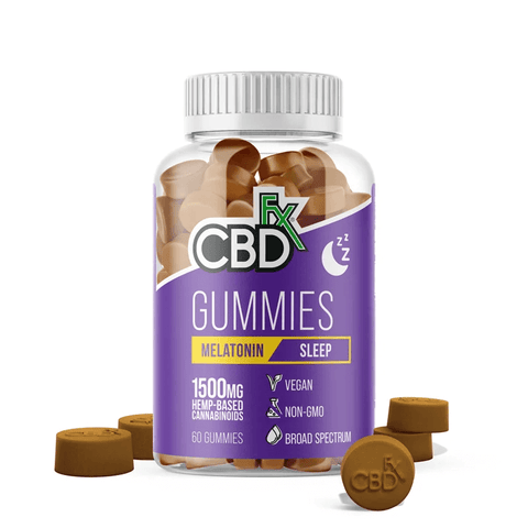 CBDfx - CBD Gummies for Sleep with Melatonin - 1500mg - CBDfx Gummies
