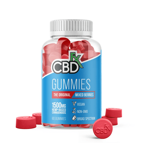 CBDfx - CBD Gummy Bears - Mixed Berries - 1500mg - CBDfx Gummies