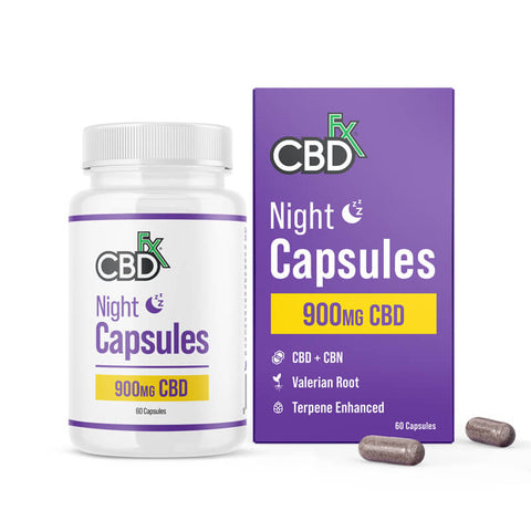 CBDfx - Night Capsules - Bottle & Box - buy CBDfx