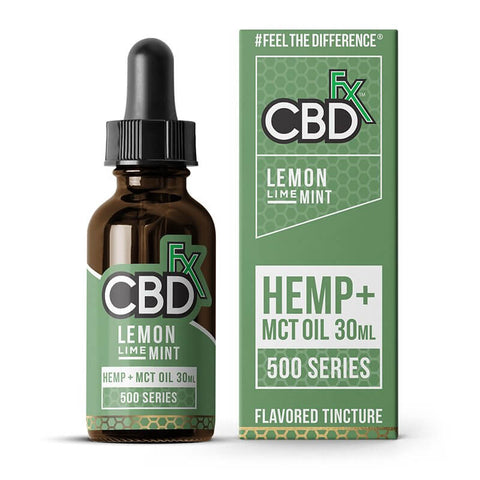 CBDfx Tincture Oil 500mg - 100% Vegan CBD Oil Drops - Blueberry Pineapple Lemon Buy CBD Online