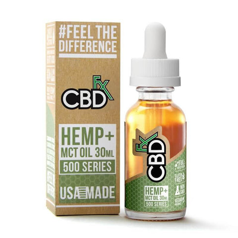 CBDfx Tincture Oil 500mg - 100% Vegan CBD Oil Drops - Natural Buy CBD Online