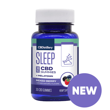 CBDistillery - CBD Gummies + Melatonin - Mixed Berry - 30MG - 30ct