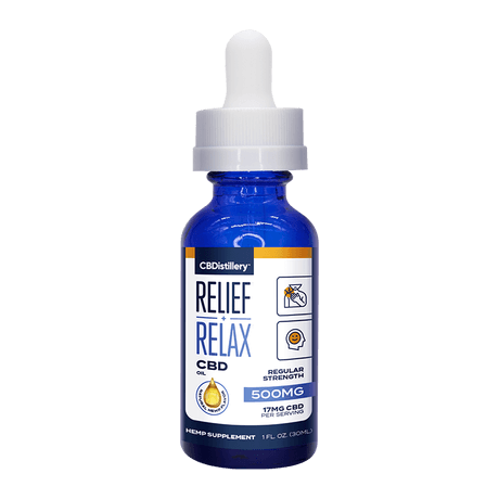 CBDistillery - Full Spectrum CBD Oil Tincture - 500MG - 30ml - Bottle