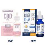 CBDistillery - Full Spectrum CBD Oil Tincture New vs Old - 2500MG - 30ml