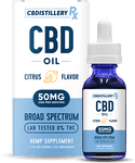 CBDistilleryRx - Broad Spectrum CBD Oil - Citrus - 1500mg - 30ml