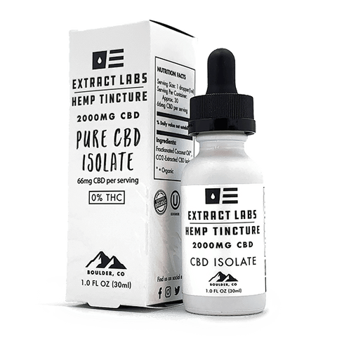 Extract Labs - CBD Isolate Tincture - 2000mg