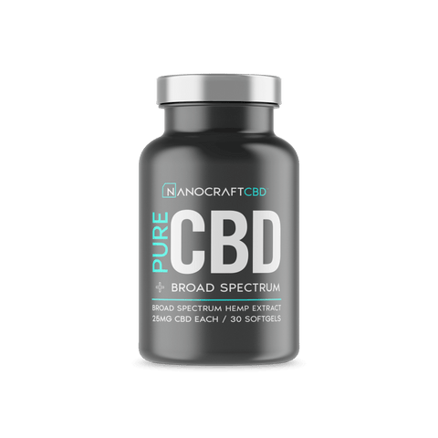 Nanocraft CBD - Pure CBD Softgels - 30ct