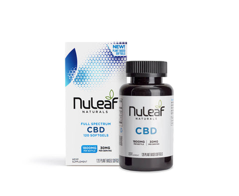 NuLeaf Full Spectrum CBD Capsules 1800mg