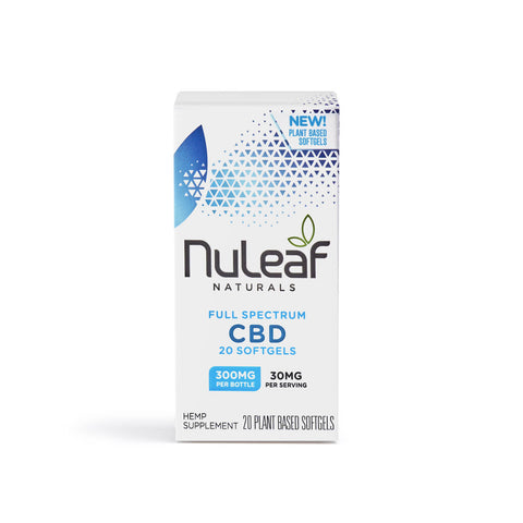 NuLeaf Full Spectrum CBD Capsules 300mg