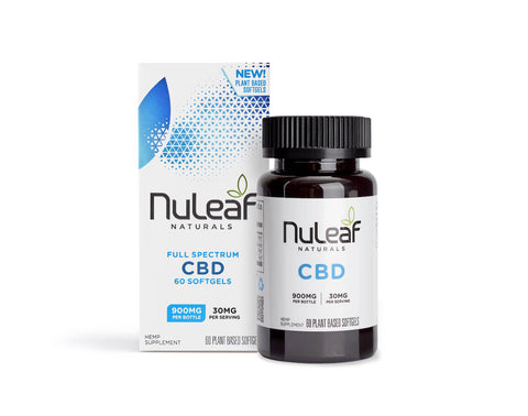 NuLeaf Full Spectrum CBD Capsules 900mg