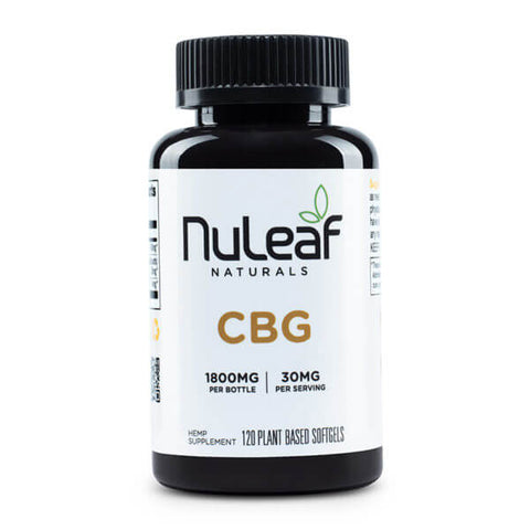 NuLeaf Full Spectrum CBG Capsules 1800mg
