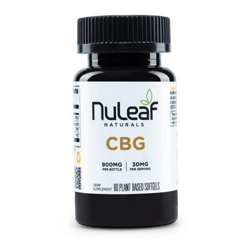 NuLeaf Full Spectrum CBG Capsules 900mg