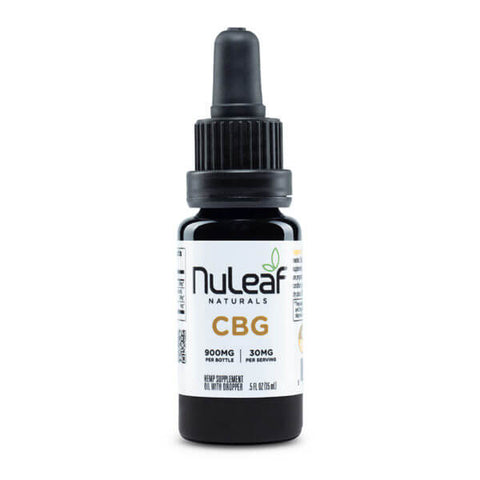 NuLeaf Naturals - CBG Oil - 900mg bottle